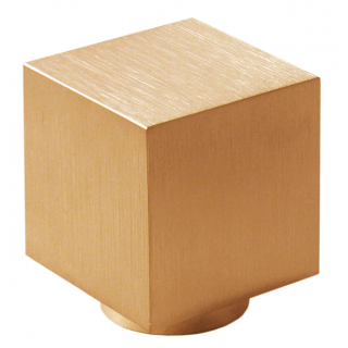 Design-Möbelknopf CUBE-K  20 mm, Edelst. Bronze matt