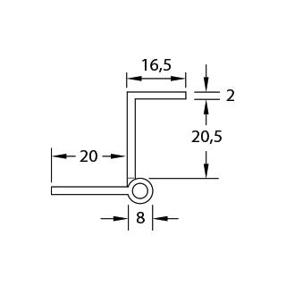 Häufig Winkelband Kröpfung L BP44