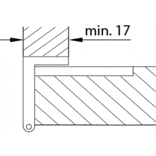 Relativ Winkelscharnier Messing NF Kröpfung L VQ79